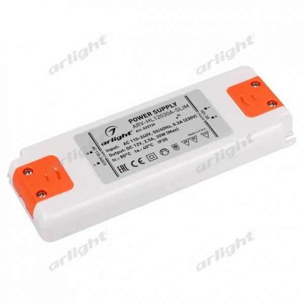 Блок питания ARV-HL12030A-Slim (12V, 2.5A, 30W)