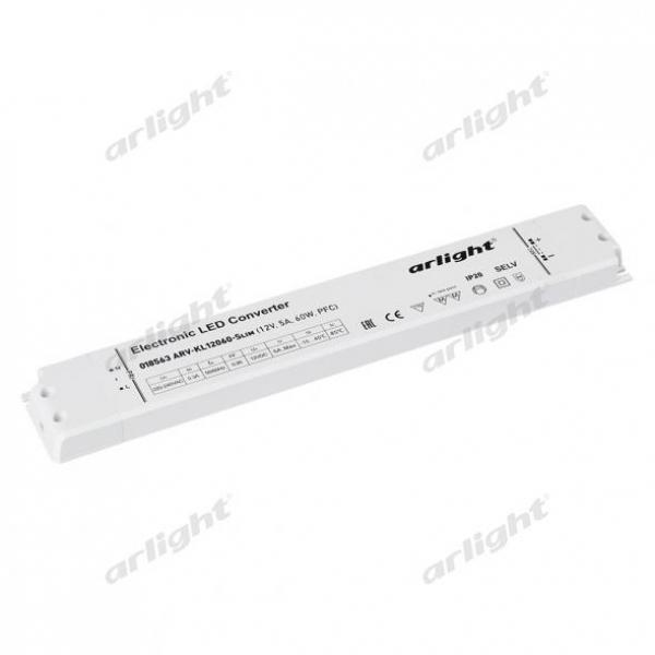 Блок питания ARV-KL12060-Slim (12V, 5A, 60W, PFC)