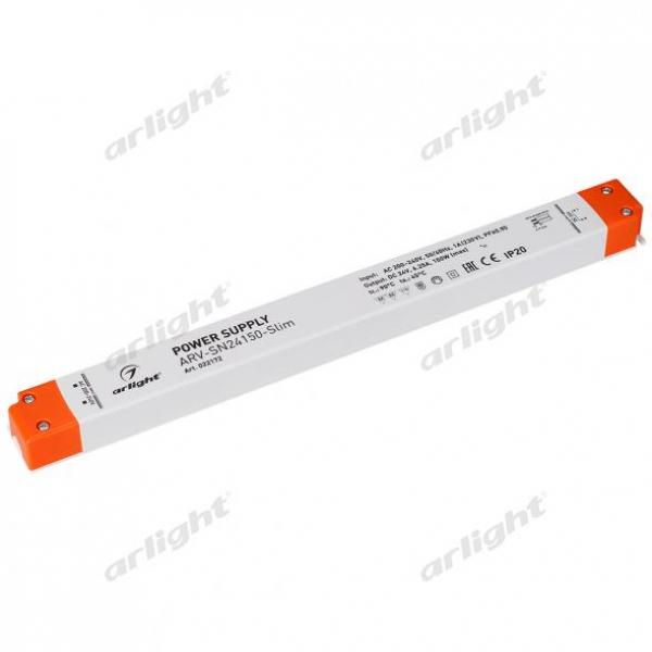 Блок питания ARV-SN24150-Slim (24V, 6,25A, 150W, PFC)