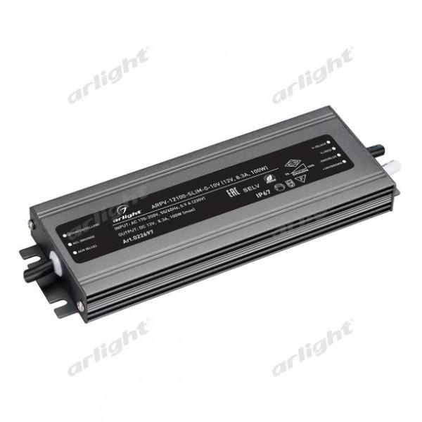 Блок питания ARPV-12100-SLIM-0-10V (12V, 8.3A, 100W)