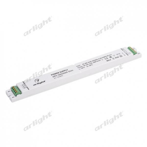 Блок питания ARV-SN24060-Slim (24V, 2.5A, 60W, 0-10V, PFC)