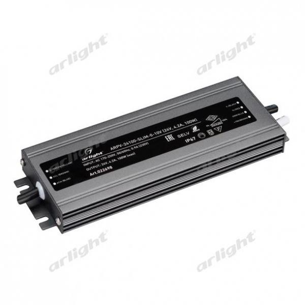 Блок питания ARPV-24100-SLIM-0-10V (24V, 4.2A, 100W)