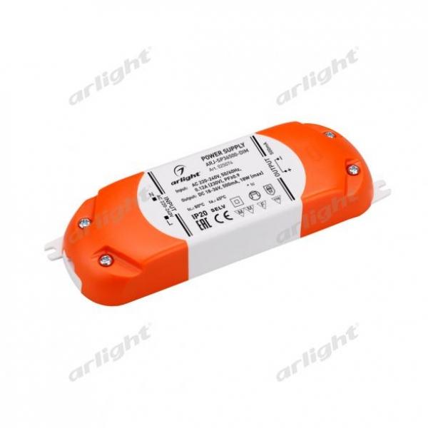 Блок питания ARJ-SP36500-DIM (18W, 500mA, PFC, Triac)