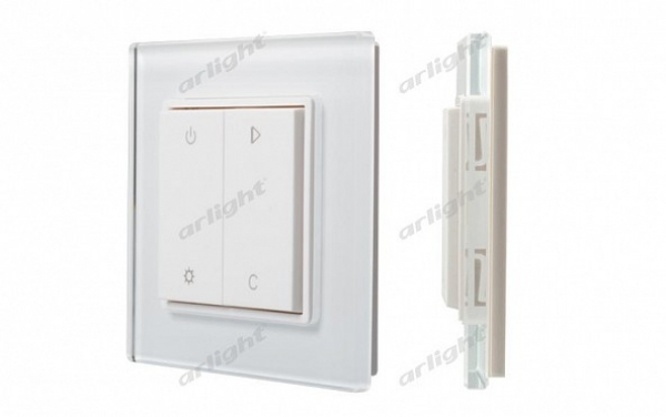 Панель Knob SR-2833RGB-RF-UP White (3V,RGBW,1зона)