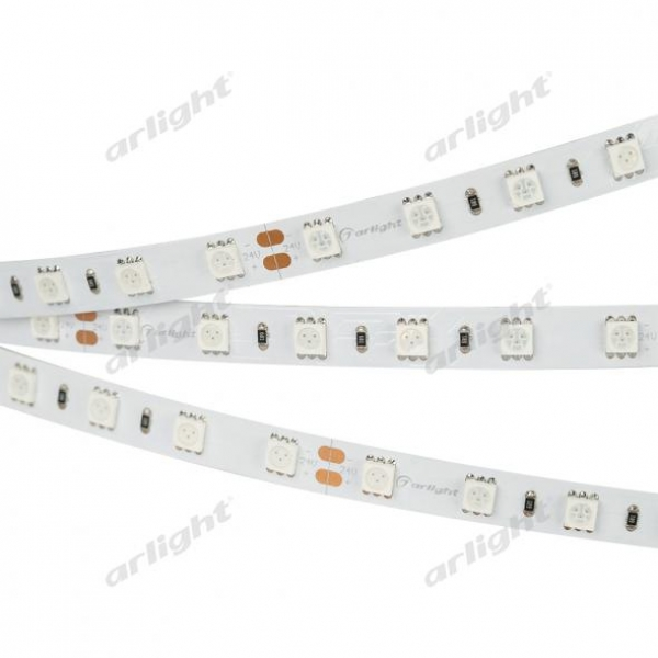 Лента RT 2-5000 24V Yellow 2x (5060, 300 LED, LUX)