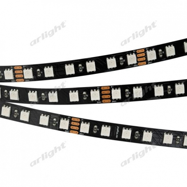 Лента RT 2-5000 24V RGB 3X (5060, 420 LED, BLACK)