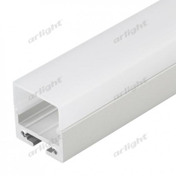 Профиль с экраном SL-LINE-2011M-2500 ANOD+OPAL SQUARE