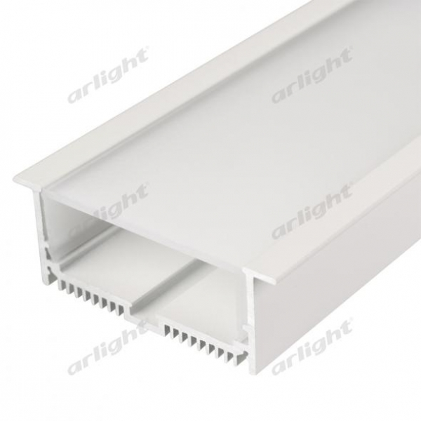 Профиль с экраном SL-LINIA88-F-2500 WHITE+OPAL
