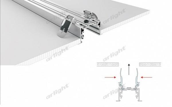 Профиль с экраном S2-LINIA94-F-2500 ANOD+OPAL