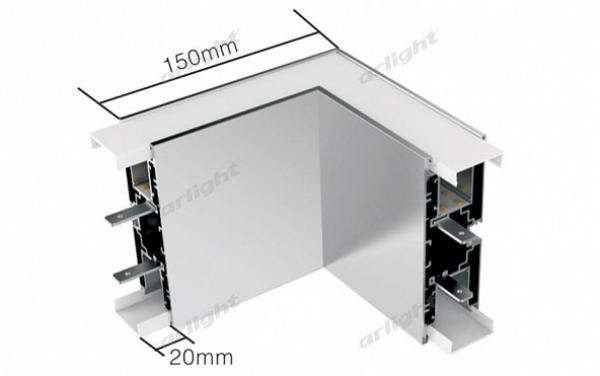 Угол S2-WALL-X2-H128-L90N внутренний