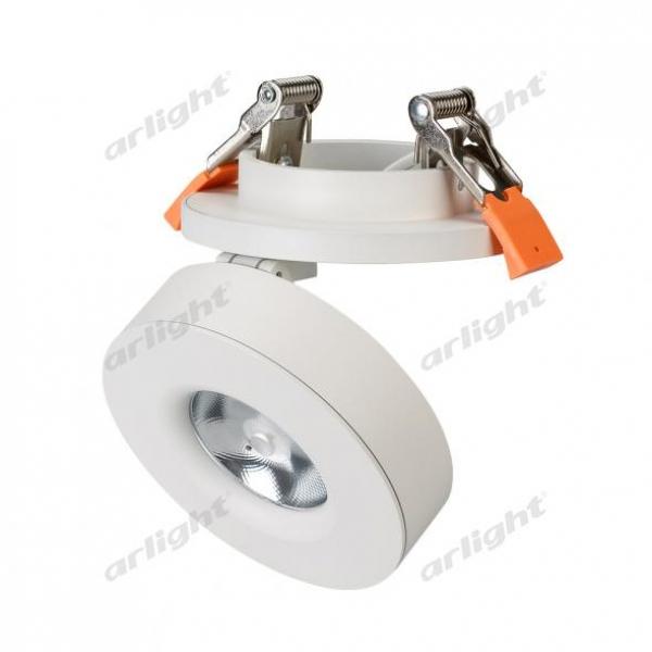 Светильник LGD-MONA-BUILT-R100-12W Warm3000 (WH, 24 deg)