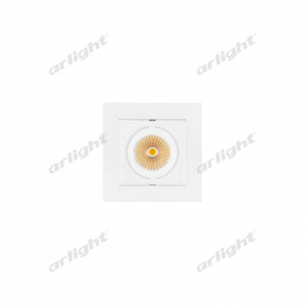 Светильник CL-KARDAN-S102x102-9W White (WH, 38 deg)