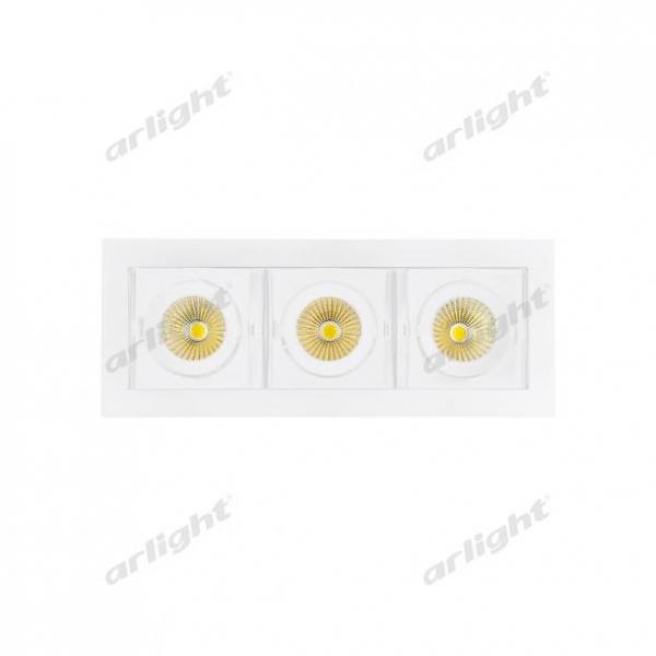 Светильник CL-KARDAN-S260x102-3x9W White (WH, 38 deg)