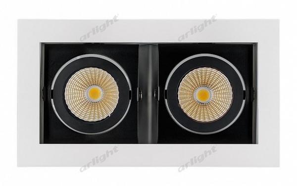 Светильник CL-KARDAN-S180x102-2x9W Warm (WH-BK, 38 deg)