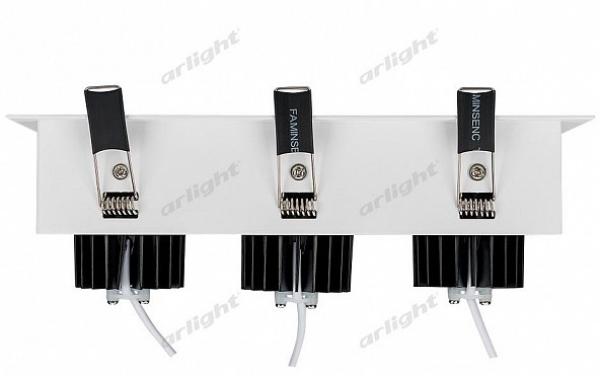 Светильник CL-KARDAN-S260x102-3x9W Day (WH-BK, 38 deg)