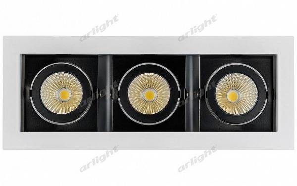 Светильник CL-KARDAN-S260x102-3x9W Warm (WH-BK, 38 deg)
