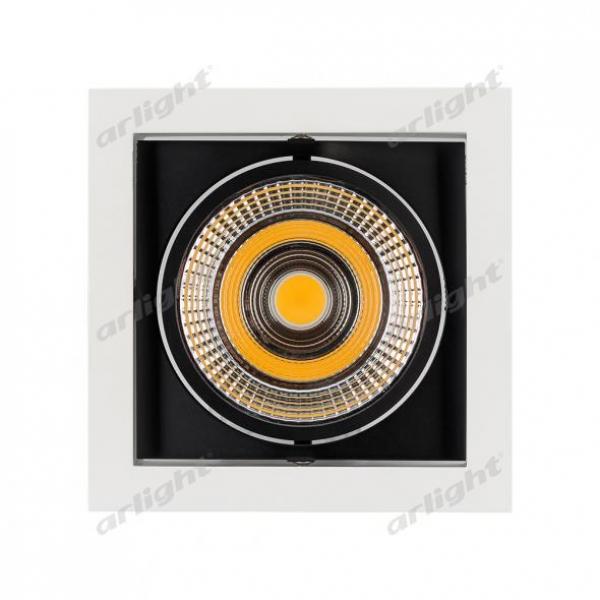 Светильник CL-KARDAN-S152x152-25W Warm3000 (WH-BK, 30 deg)