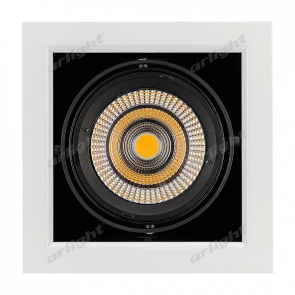 Светильник CL-KARDAN-S190x190-25W White6000 (WH-BK, 30 deg)