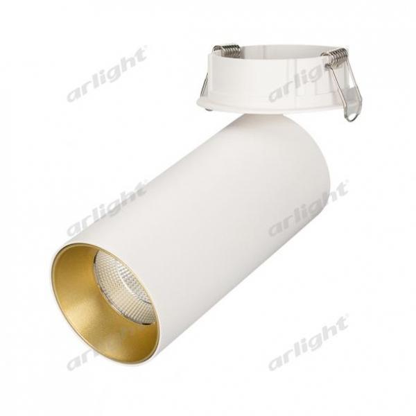 Светильник SP-POLO-BUILT-R65-8W White5000 (WH-GD, 40 deg)