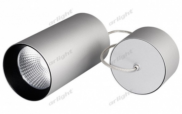 Светильник подвесной SP-POLO-R85-2-15W Day White 40deg (Silver, Black Ring)