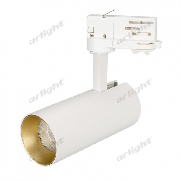 Светильник SP-POLO-TRACK-LEG-R65-8W Warm3000 (WH-GD, 40 deg)