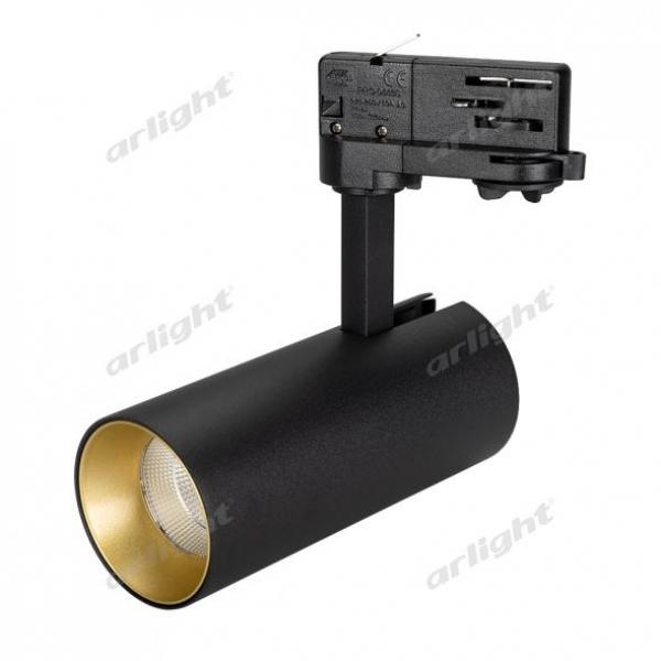 Светильник SP-POLO-TRACK-LEG-R65-8W Warm3000 (BK-GD, 40 deg)