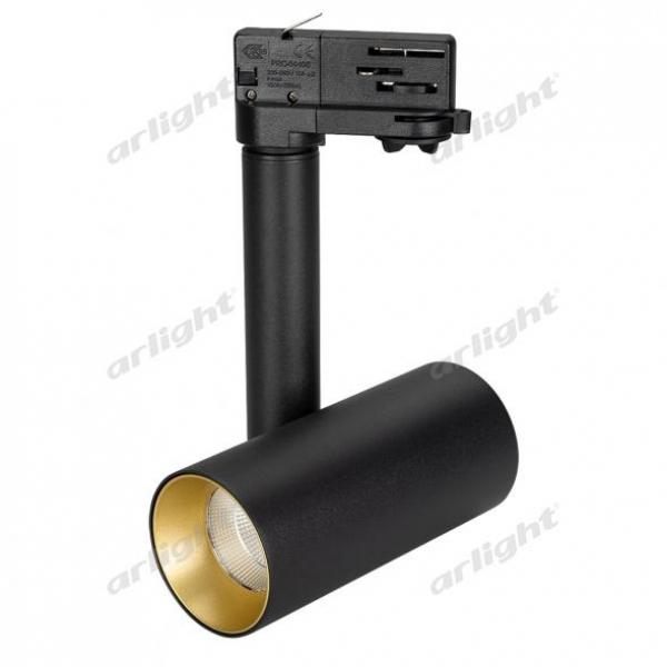 Светильник SP-POLO-TRACK-PIPE-R65-8W Warm3000 (BK-GD, 40 deg)
