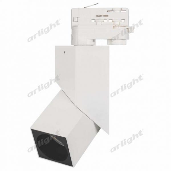 Светильник LGD-TWIST-TRACK-4TR-S60x60-12W Warm3000 (WH-BK, 30 deg)