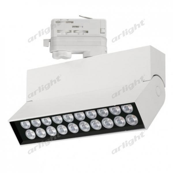 Светильник LGD-LOFT-TRACK-4TR-S170-10W Warm3000 (WH, 24 deg)