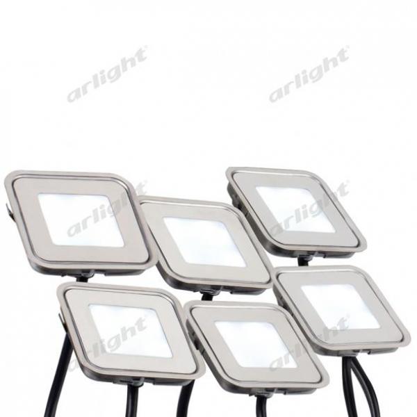 Набор KT-S-6x0.6W LED Warm White 12V (квадрат)