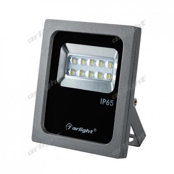 Светодиодный прожектор AR-FLAT-ARCHITECT-10W-220V Warm (Grey, 50x70 deg)