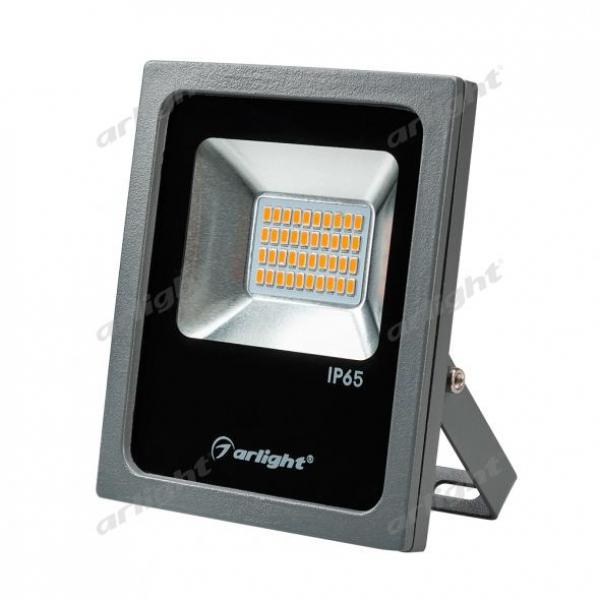 Светодиодный прожектор AR-FLAT-20W-220V Yellow (Grey, 120 deg)