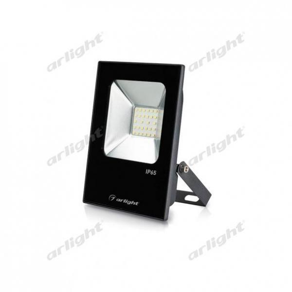 Светодиодный прожектор AR-FLAT-ICE-20W-220V Warm (Black, 120 deg)