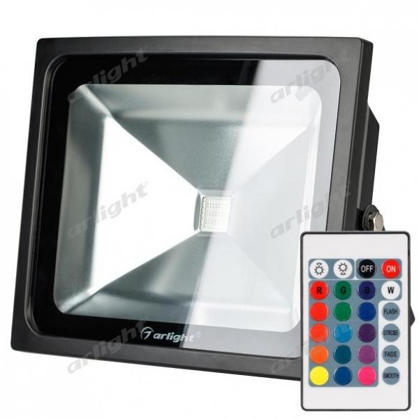Светодиодный прожектор AR-FLB-50W-220V RGB (IR ПДУ Карта 24кн)