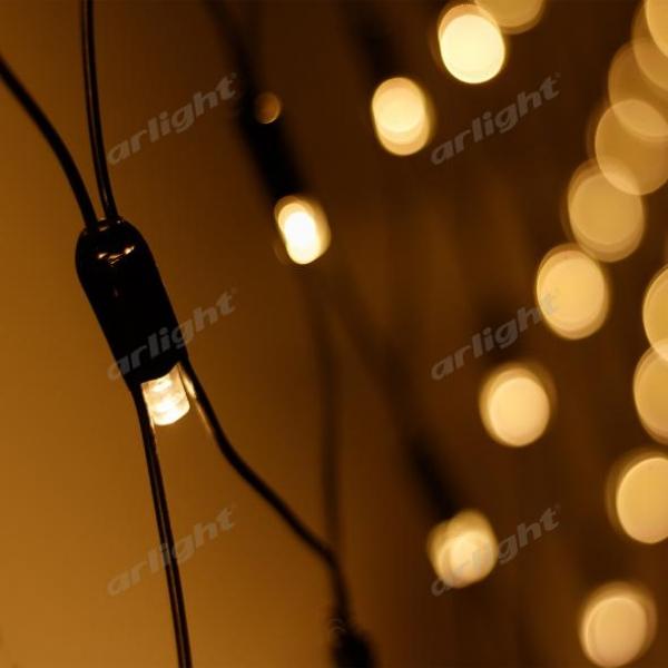 Светодиодная гирлянда ARD-NETLIGHT-CLASSIC-2000x1500-BLACK-288LED Warm (230V, 18W)