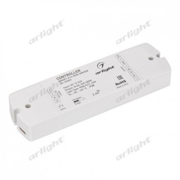 Контроллер SMART-K14-MULTI (12-24V, 5x4A, RGB-MIX)