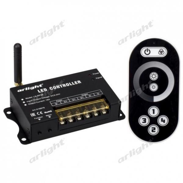 Диммер LN-RF8B (5-24V,80-384W, ПДУ сенсор 2.4G)