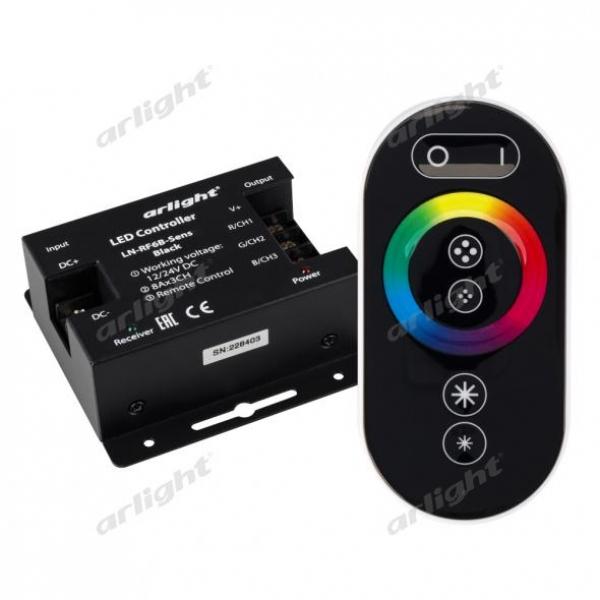 Контроллер LN-RF6B-Sens Black (12-24V, 3x8A)