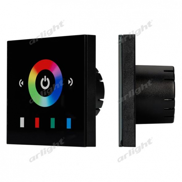 Панель Sens LN-08E2 Black (RGB,12-24V,144-288W)