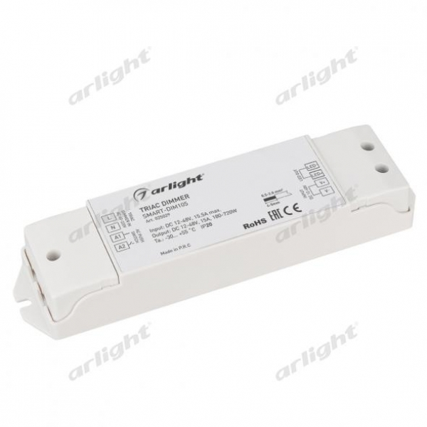 Диммер SMART-DIM105 (12-48V, 15A, TRIAC)