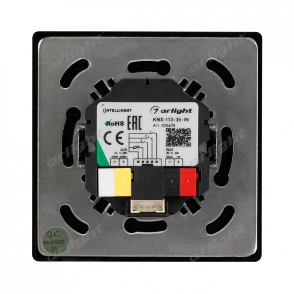 INTELLIGENT ARLIGHT Панель-термостат KNX-113-35-IN (AUX, 20-30V, ext.T-sensor)