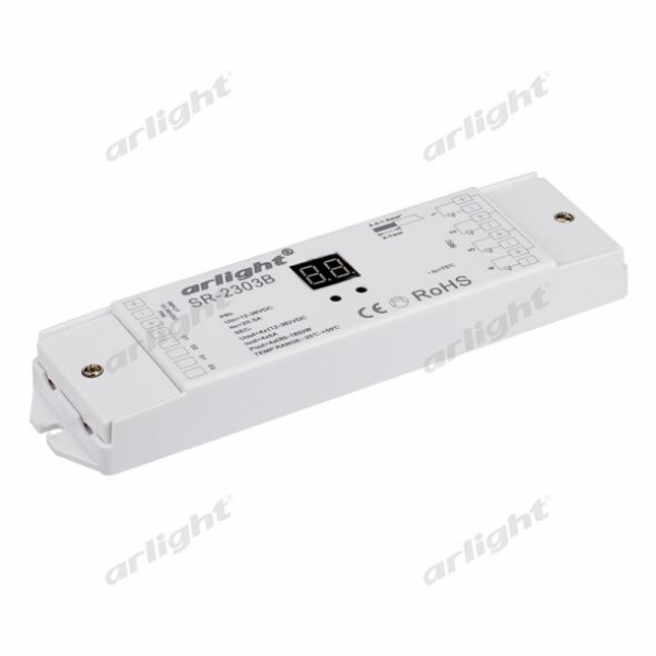 Диммер DALI SR-2303B-PD (12-36V, 240-720W, 4 адреса)
