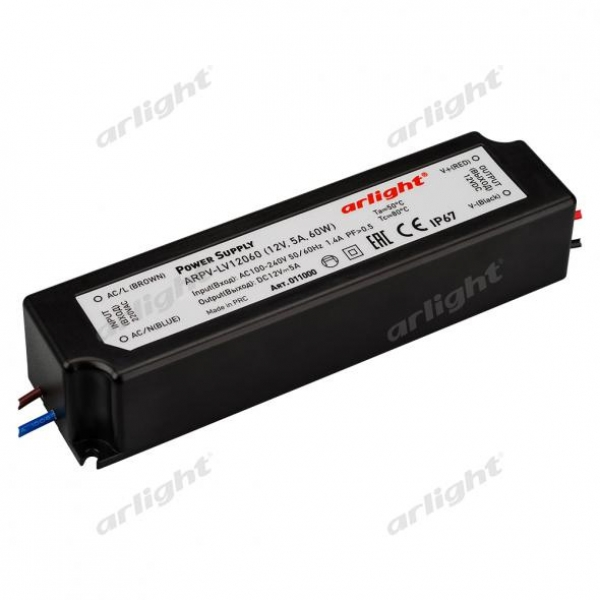 Блок питания ARPV-LV12060 (12V, 5.0A, 60W)